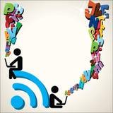 Vetor do fundo do símbolo de Wifi Fotografia de Stock