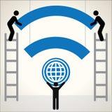 Vetor do fundo do símbolo de Wifi Imagens de Stock