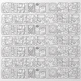 Vetor do fundo dos glyphs do Maya Fotografia de Stock Royalty Free