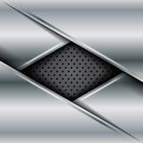 Vetor do fundo metálico abstrato Fotos de Stock