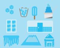 Vetor do gelo do ícone imagens de stock royalty free