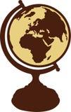 Vetor do globo do vintage ilustração royalty free