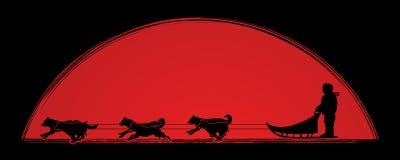 Vetor do gráfico dos cães de trenó