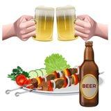 Vetor do grupo da cerveja ilustração royalty free