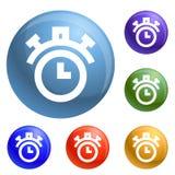 Vetor do grupo dos ícones do cronômetro ilustração royalty free