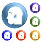 Vetor do grupo dos ícones de Inhaller ilustração royalty free