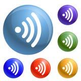 Vetor do grupo dos ícones de Wifi ilustração do vetor