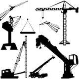 Vetor do guindaste de construção ilustração stock