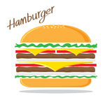 Vetor do Hamburger Fotografia de Stock Royalty Free
