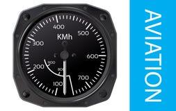 Vetor do indicador de velocidade aerodinâmica ilustração stock