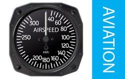 Vetor do indicador de velocidade aerodinâmica ilustração royalty free