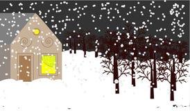 Vetor do inverno Fotografia de Stock Royalty Free