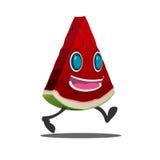 Vetor do isolado do personagem de banda desenhada da fatia da melancia Foto de Stock