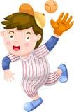 Vetor do jogador de beisebol ilustração do vetor