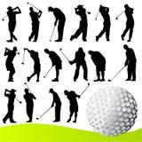 Vetor do jogador de golfe ilustração do vetor