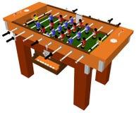 Vetor do jogo de mesa da tabela do futebol e do futebol Foto de Stock Royalty Free