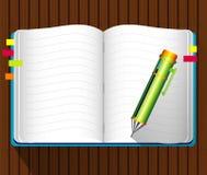 Vetor do livro de nota Fotos de Stock