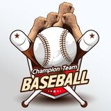 Vetor 223 do logotipo do basebol imagem de stock