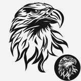 Vetor do logotipo da cabeça de Eagle ilustração royalty free