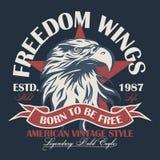 Vetor do logotipo da cabeça de Eagle Imagens de Stock Royalty Free