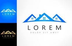 Vetor do logotipo da casa ilustração stock