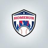 Vetor do logotipo da equipe de esporte do basebol Fotos de Stock