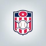 Vetor do logotipo da equipe de esporte do basebol Fotografia de Stock Royalty Free