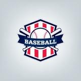 Vetor do logotipo da equipe de esporte do basebol Foto de Stock