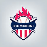 Vetor do logotipo da equipe de esporte do basebol Fotos de Stock Royalty Free
