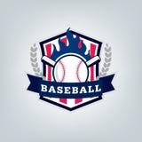 Vetor do logotipo da equipe de esporte do basebol Imagens de Stock Royalty Free