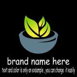Vetor do logotipo da folha da bacia fotos de stock