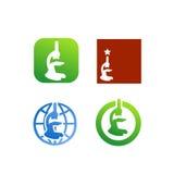 Vetor do logotipo da investigação médica Fotos de Stock
