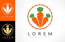 Vetor do logotipo das cenouras ilustração royalty free