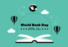 Vetor do logotipo do dia do livro do mundo ilustração royalty free