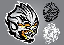 Vetor do logotipo do emblema do linethai do macaco Fotografia de Stock Royalty Free