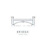 Vetor do logotipo do esboço da ponte Imagem de Stock Royalty Free