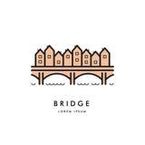 Vetor do logotipo do esboço da ponte Imagens de Stock Royalty Free