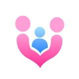 Vetor do logotipo do projeto do amor da família Fotos de Stock