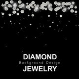 Vetor do luxo do fundo do diamante ilustração stock