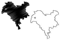 Vetor do mapa da cidade de Kiev ilustração stock