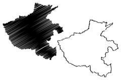 Vetor do mapa da província de Henan ilustração do vetor