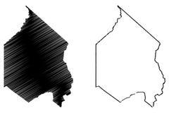 Vetor do mapa de Alpine County, Calif?rnia ilustração stock