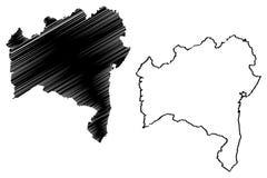 Vetor do mapa de Baía ilustração do vetor