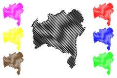 Vetor do mapa de Baía ilustração stock