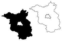 Vetor do mapa de Brandemburgo Imagem de Stock
