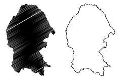 Vetor do mapa de Coahuila ilustração do vetor