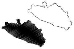 Vetor do mapa de Guerrero ilustração stock