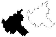 Vetor do mapa de Hamburgo Imagens de Stock Royalty Free