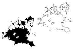 Vetor do mapa de Houston City ilustração do vetor
