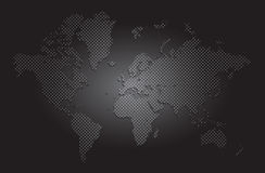 vetor do mapa de mundo Imagem de Stock Royalty Free
